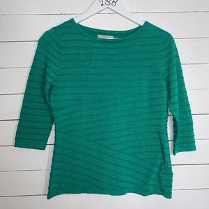 Dana Buchman green top, sz M